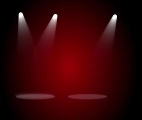 Fototapete - spotlight on stage with spotlight