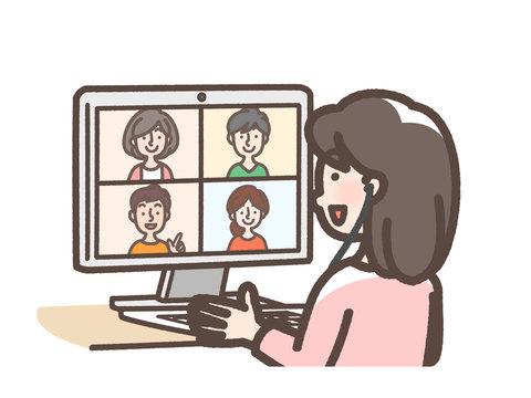 リモート会議 オンラインオフ会 など