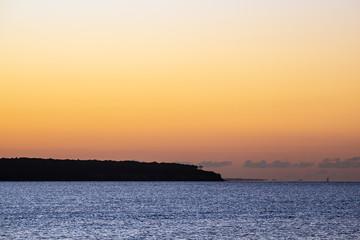 Fototapete - Sonnenuntergang an der Küste der Ostsee in Warnemünde