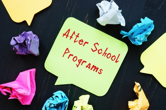 Educational concept about After School Programs with phrase on the sheet.