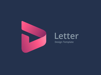 Fototapeta Letter D with arrow logo icon design template elements obraz