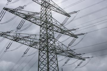 Strommast als Überlandleitung