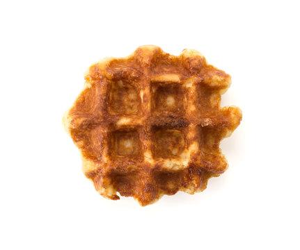 sweet waffle on white background
