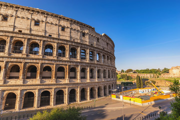 Foto auf Gartenposter Rom Rome Italy, city skyline at Rome Colosseum empty nobody