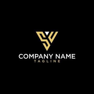 Geometric letter SU or US logo design. Modern luxury intial logo vector.