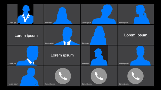 An online video conference background template with space for your text.