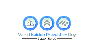 Vector illustration on the theme of World suicide prevention day observed each year on September 10th across the world.