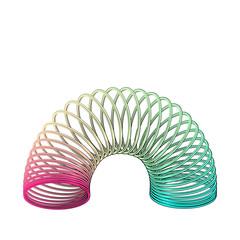 Rainbow slinky toy vector illustration