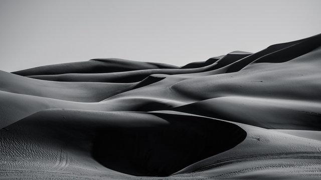 sand dunes in the Liwa desert ,abu dhabi , united arab emirates