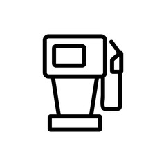 mechanical refueling gun with counter icon vector. mechanical refueling gun with counter sign. isolated contour symbol illustration