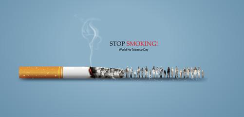 no smoking and World No Tobacco Day Fototapete