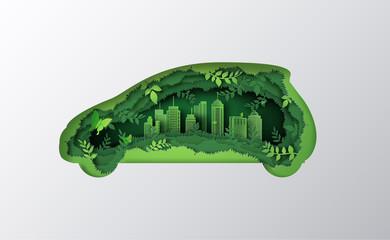 eco car concept - fototapety na wymiar