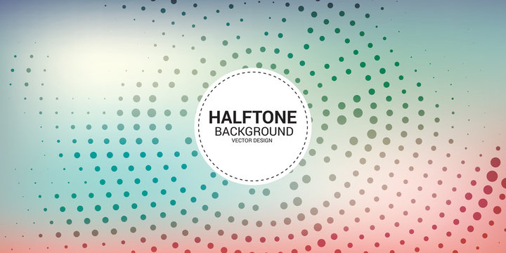 Halftone dotted background. Halftone effect vector pattern. Circle dots background