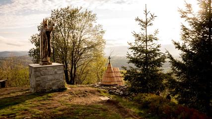 kapliczka w górach, Beskid Śląski