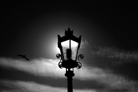 Street lamp on the street