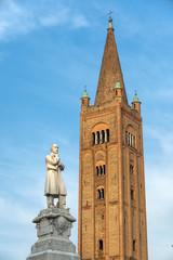 Fototapete - Belfry of San Mercuriale church in Forli, Emilia Romagna