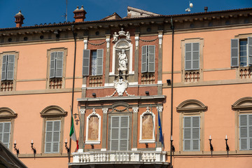 Fototapete - Historic buildings of Imola, Bologna, Italy