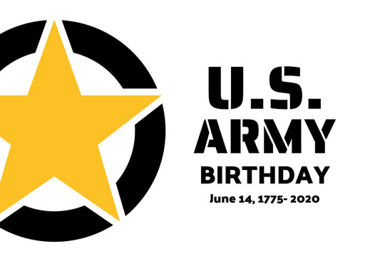 U.S. Army Birthdays. Holiday concept. Template for background, banner, card, poster with text inscription. Vector EPS10 illustration.