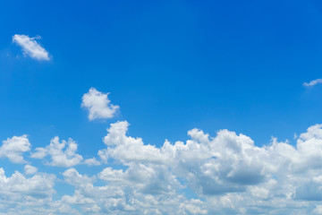 Beautiful blue sky with partly cloudy Fotobehang