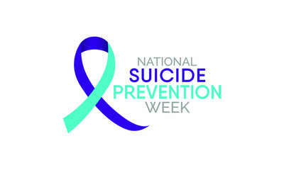 Vector illustration on the theme of National suicide prevention week observed each year during September.