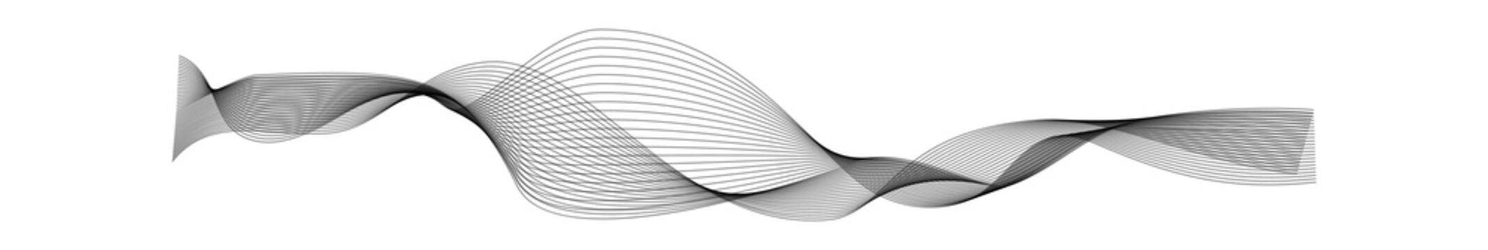 Soundwave design. Black curve sonic musical or radio line vector wave shape