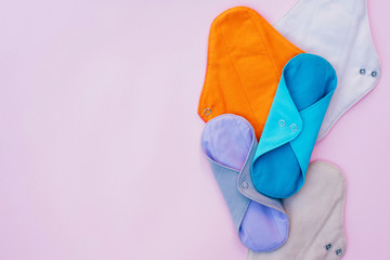 Eco-friendly reusable fabric women's pads.