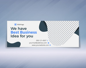 Corporate facebook timeline cover banner design template