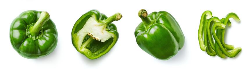 Fototapeta Set of fresh whole and sliced sweet pepper obraz