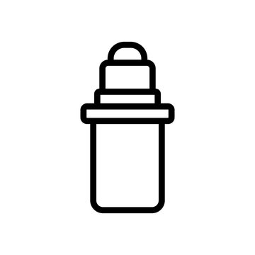 tube lip balm icon vector. tube lip balm sign. isolated contour symbol illustration