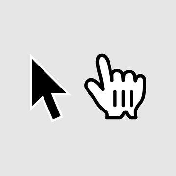 Click icon. Cursor symbol modern, simple, vector, icon for website design, mobile app, ui. Vector Illustration