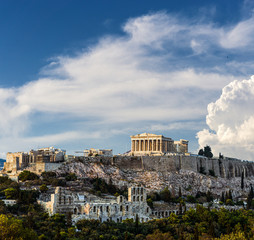 Printed kitchen splashbacks Athens Parthenon, Acropolis of Athens, the symbol of Greece