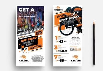 Cycling Shop Rack Card Layout