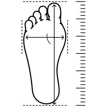 Foot size measurement for shoes