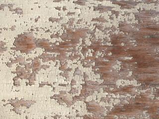 Fotobehang Oude vuile getextureerde muur Fond bois vintage et peinture craquelées
