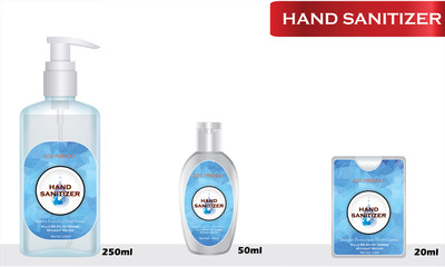 Wall Mural - Hand sanitizer tube with text on label. Packaging design. Advertising of hand sanitizer. Hand disinfectant. Personal hygiene. 3d Illustration
