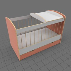 Crib with drawer