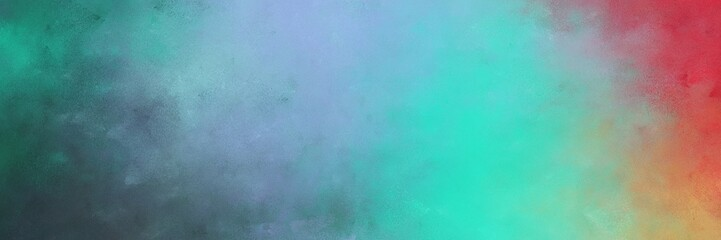 beautiful cadet blue and medium aqua marine colored vintage abstract painted background with space for text or image. can be used as horizontal background graphic Wall mural