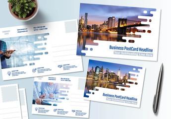 Business Postcard Layout Set