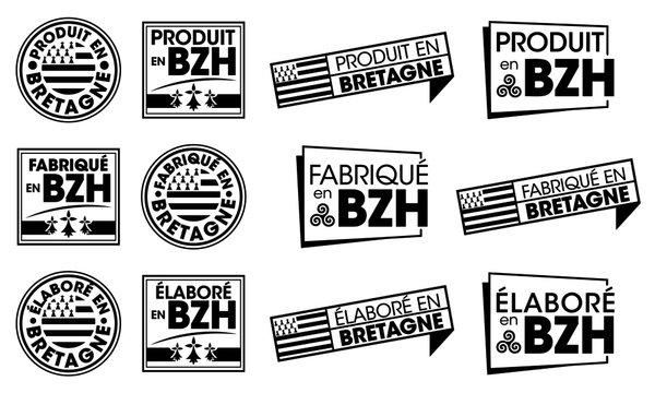 Logo / Label / Autocollant / Fabriqué en Bretagne