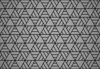 Fotorolgordijn Geometrisch Abstract geometric pattern. A seamless vector background. Black and grey ornament. Graphic modern pattern. Simple lattice graphic design