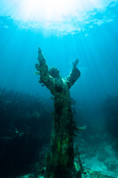 Christ of The Abyss statue in the Florida Keys