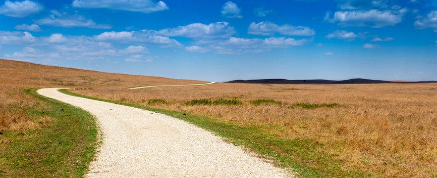 Panoramic View of the Kansas Tallgrass Prairie Preserve