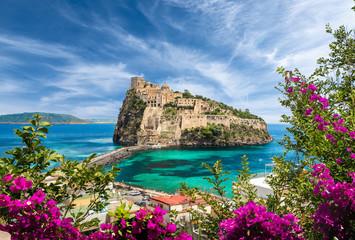 Foto auf AluDibond Südeuropa Landscape with Aragonese Castle, Ischia island, Italy