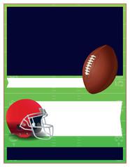 American Football Theme Flyer Template Illustration