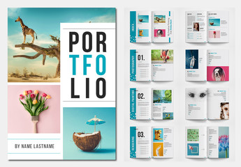 Portfolio Layout with Teal Accents