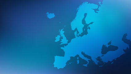 Europe / european map illustration Fotomurales