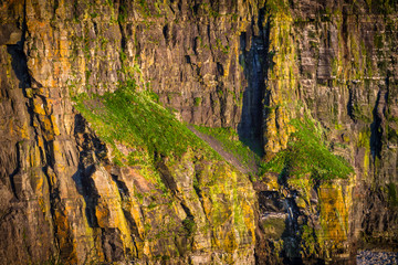 Wall Mural - Amazing Cliffs of Moher at sunset in Ireland, County Clare.