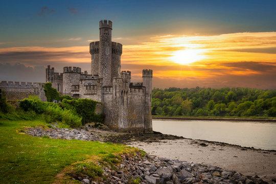 Blackrock Castle and observarory in Cork at sunset, Ireland