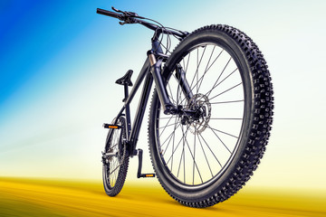 mountain bike on the road