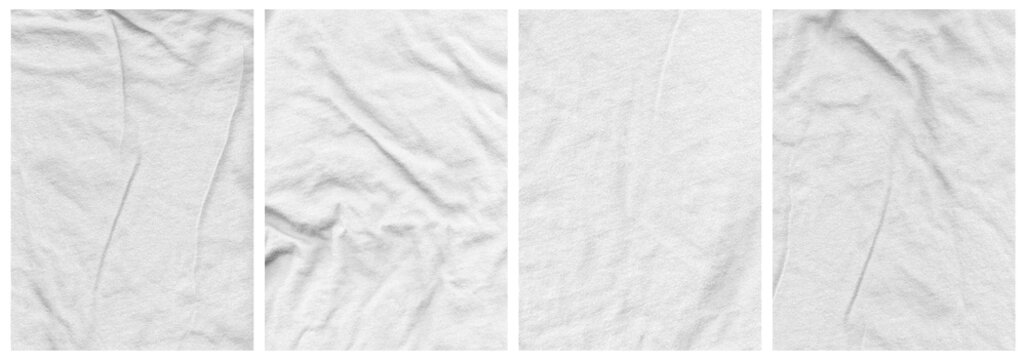 Tee Shirt Texture Pack Ringspun wrinkled fabric